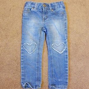 Cat & Jack Heart Skinny Pants 2T